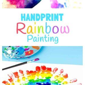 Gorgeous Handprint Rainbow Painting