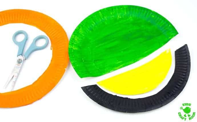 Paper-Plate-and-Handprint-Leprechaun-Mask-step-1