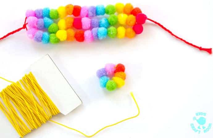 Pom Pom Rainbow Jewellery Craft step 4
