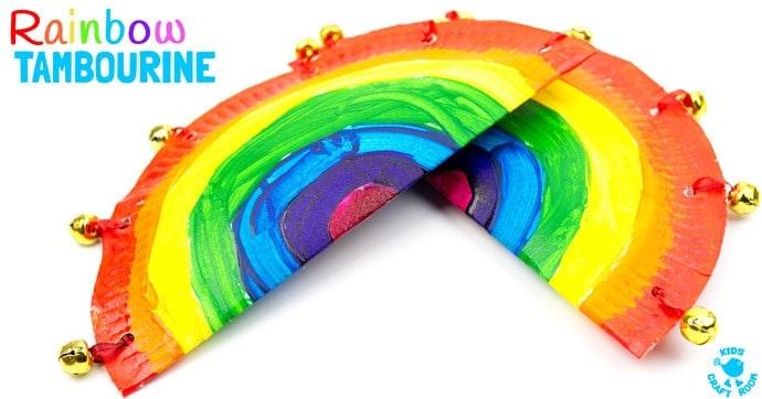 sc 1 st  Kids Craft Room & Rainbow Paper Plate Tambourine Craft - Kids Craft Room