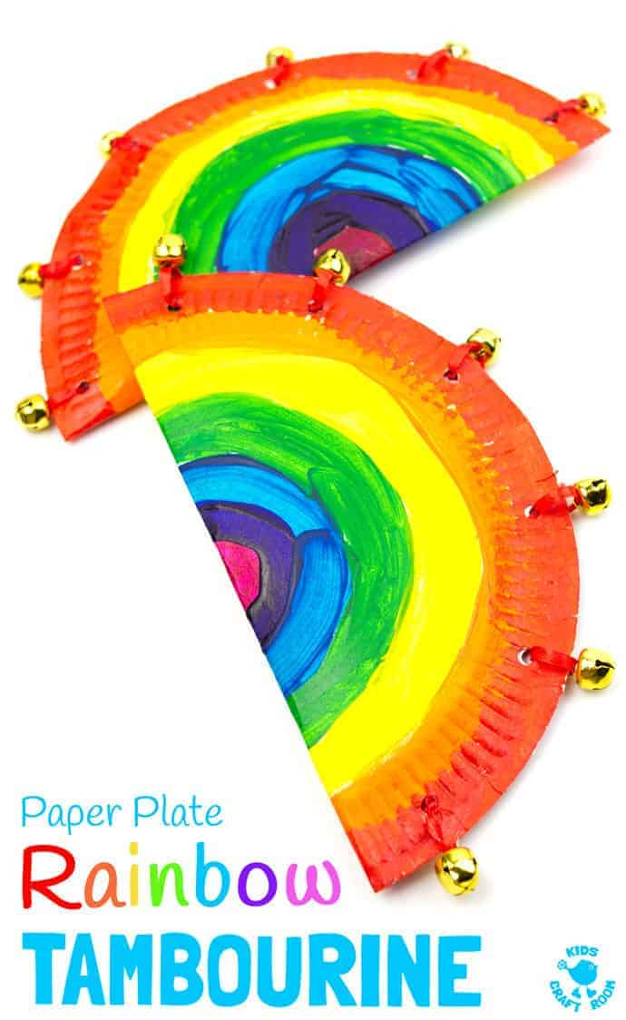 Rainbow Paper Plate Tambourine Craft  sc 1 st  Kids Craft Room & Rainbow Paper Plate Tambourine Craft - Kids Craft Room