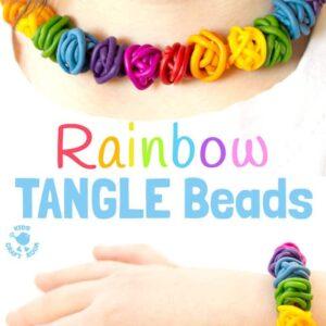 Rainbow Tangle Beads – Easy Polymer Clay Beads