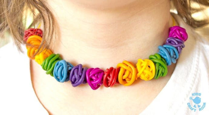Gorgeous Rainbow Tangle Beads are colourful, fun and quirky. These easy polymer clay beads are great for kids and grown-ups to make and always look amazing!