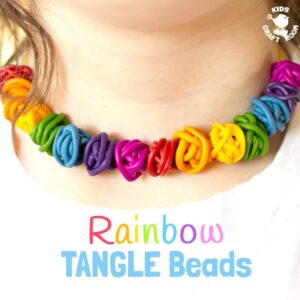 Rainbow Tangle Beads – Easy Polymer Clay Beads
