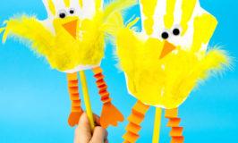 The Cutest Handprint Chick Puppets