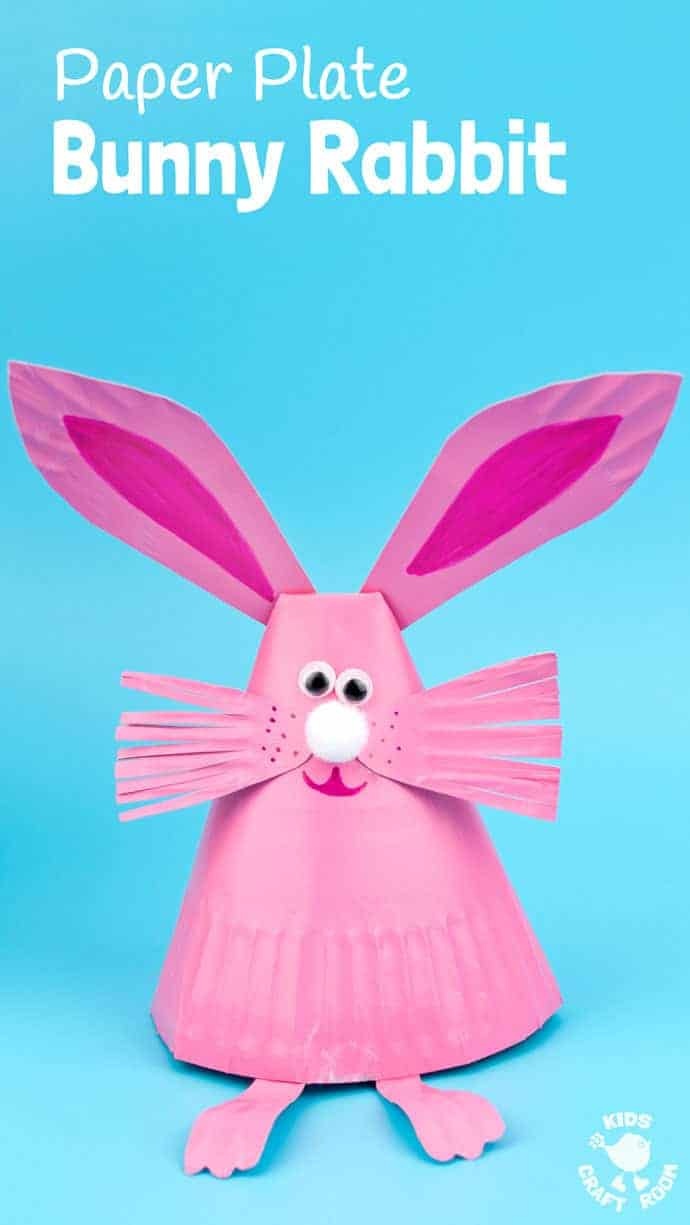 This Paper Plate Rabbit Craft is a super Easter craft or Spring craft for kids.  sc 1 st  Kids Craft Room : paper plate rabbit - pezcame.com