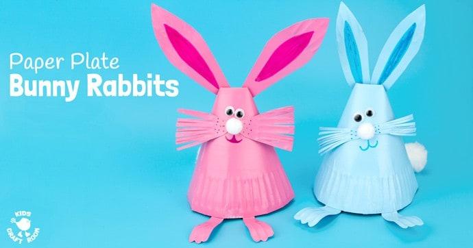 Adorable Paper Plate Rabbit Craft - Kids Craft Room