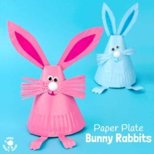 Adorable Paper Plate Rabbit Craft
