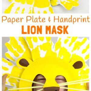 Handprint and Paper Plate Lion Masks