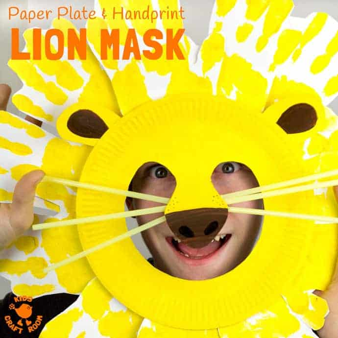 Kids will love adorable Handprint and Paper Plate Lion Masks. These easy animal masks are  sc 1 st  Kids Craft Room & Handprint and Paper Plate Lion Masks - Kids Craft Room