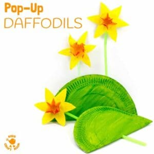 Fun Pop Up Daffodil Craft