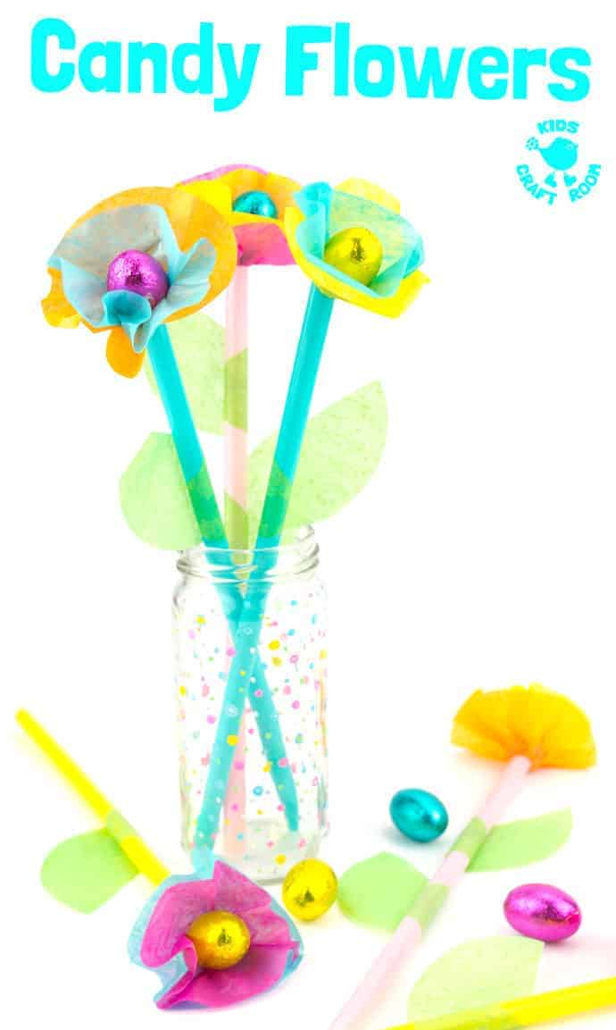 Candy And Tissue Paper Flower Craft Kids Craft Room