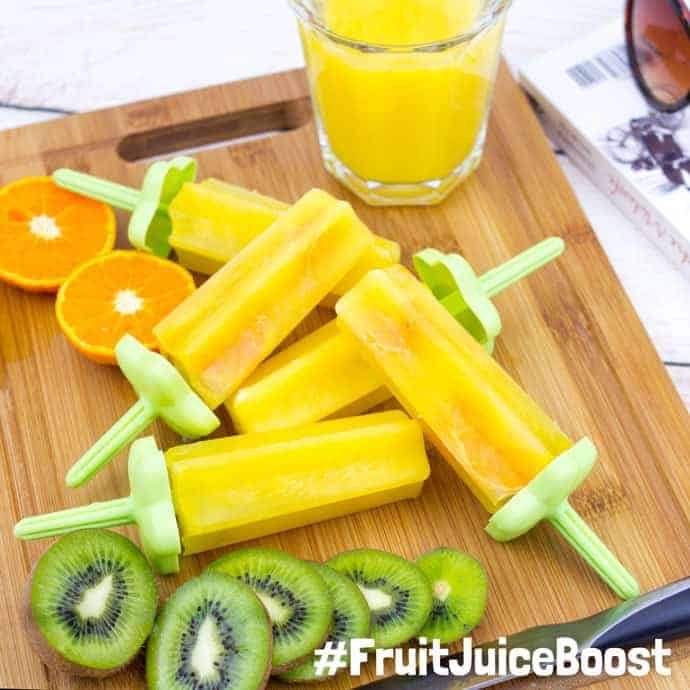 Have you tried a daily #FruitJuiceBoost for your kids? It's such an easy way to give them one of their recommended portions of fruit and vegetables every day. Here are my favourite ways to enjoy a serving of pure fruit juice every single day.
