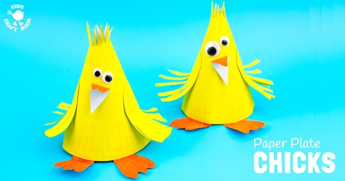 This Paper Plate Chick Craft is such a fun Spring craft for kids and of course it's lovely for Easter too. One of our favourite things about Spring is seeing all the little fluffy yellow chicks. Is there anything else so adorable? #Easter #eastercrafts #spring #springcrafts #chicks #chickcrafts #paperplate #paperplatecrafts #kidscrafts #craftsforkids #kidscraftroom #easterchicks #springchicks
