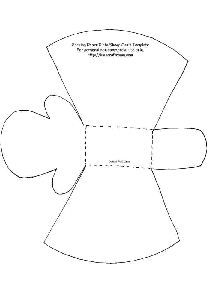 lamb cut out template - rocking paper plate sheep craft printable template kids
