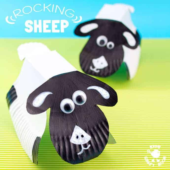 ROCKING PAPER PLATE SHEEP CRAFT - Hereu0027s a spring craft kids will love. This rocking & Rocking Paper Plate Sheep Craft - Kids Craft Room