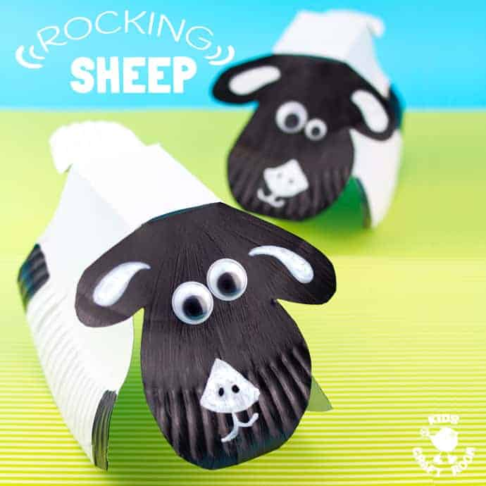 ROCKING PAPER PLATE SHEEP CRAFT - Here's a spring craft kids will love. This rocking sheep or lamb craft is easy to make and so much fun! The movement really brings this kids animal craft to life. This is a paper plate craft the kids will enjoy playing with again and again.