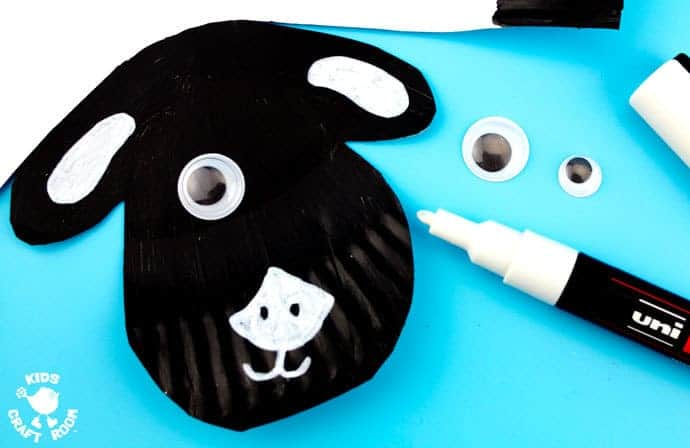 Step 4- ROCKING PAPER PLATE SHEEP CRAFT - Here's a spring craft kids will love. This rocking sheep or lamb craft is easy to make and so much fun! The movement really brings this kids animal craft to life. This is a paper plate craft the kids will enjoy playing with again and again.