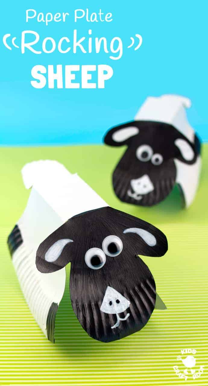 Rocking paper plate sheep craft kids craft room for Cardboard sheep template