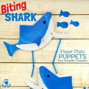 Paper Plate Shark Puppet Craft