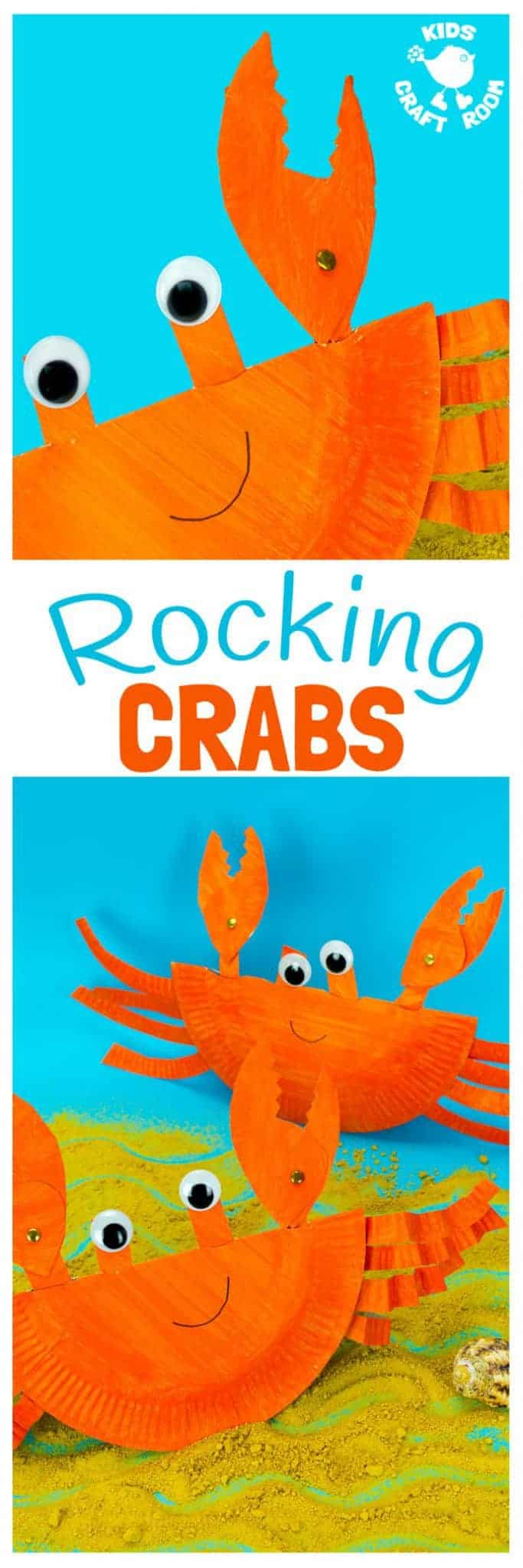 This interactive Rocking Paper Plate Crab Craft is a fun kids Summer craft. Children will  sc 1 st  Kids Craft Room & Rocking Paper Plate Crab Craft - Kids Craft Room