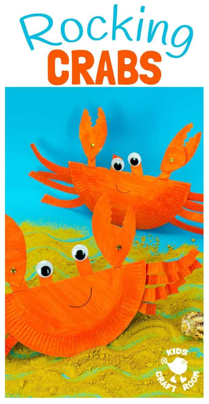 This interactive Rocking Paper Plate Crab Craft is a fun kids Summer craft. Children will  sc 1 st  Kids Craft Room & Rocking Paper Plate Crab Craft - Kids Craft Room