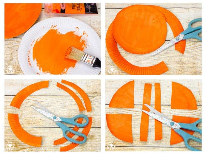 PAPER PLATE CRAB CRAFT STEPS 1 - 4- This interactive Rocking Paper Plate Crab Craft is a fun kids Summer craft. Children will love rocking and nipping with these adorable homemade crabs and their cheeky moveable pincers.