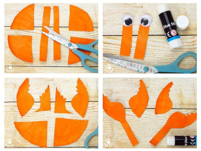 PAPER PLATE CRAB CRAFT STEPS 5 - 8 - This interactive Rocking Paper Plate Crab Craft is a fun kids Summer craft. Children will love rocking and nipping with these adorable homemade crabs and their cheeky moveable pincers.