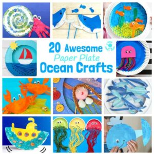 20 Awesome Paper Plate Ocean Crafts