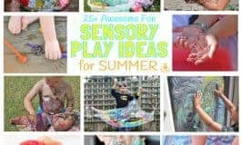 THE BEST SUMMER SENSORY PLAY IDEAS - Want Summer sensory activities to keep the kids engaged, playing and learning? These 25+ Fun Summer Sensory Play Activities will be a hit with kids big and small.