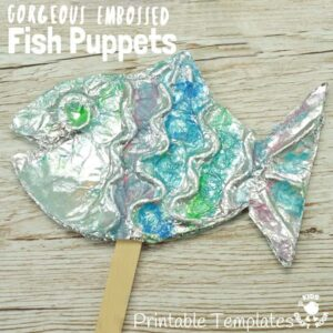 Gorgeous Embossed Foil Fish Craft