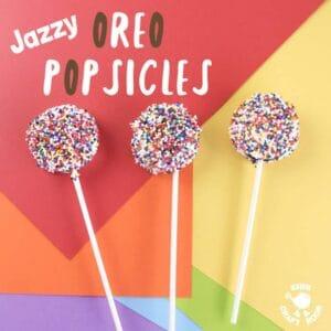 Jazzy Oreo Popsicles