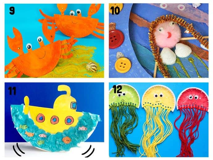 20 Awesome Paper Plate Ocean Crafts Kids Craft Room
