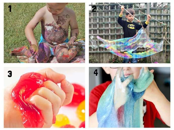 THE BEST SUMMER SENSORY PLAY IDEAS 1-4 - Want Summer sensory activities to keep the kids engaged, playing and learning? These 25+ Fun Summer Sensory Play Activities will be a hit with kids big and small.