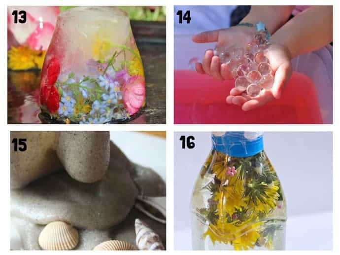 THE BEST SUMMER SENSORY PLAY IDEAS 13-16 - Want Summer sensory activities to keep the kids engaged, playing and learning? These 25+ Fun Summer Sensory Play Activities will be a hit with kids big and small.