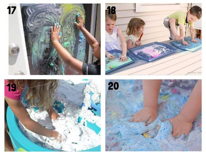 THE BEST SUMMER SENSORY PLAY IDEAS 17-20 - Want Summer sensory activities to keep the kids engaged, playing and learning? These 25+ Fun Summer Sensory Play Activities will be a hit with kids big and small.
