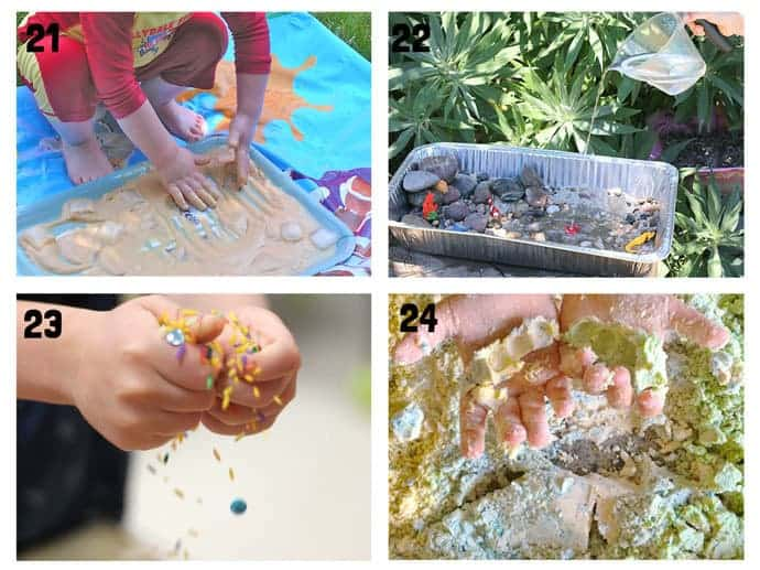 THE BEST SUMMER SENSORY PLAY IDEAS 21-24 - Want Summer sensory activities to keep the kids engaged, playing and learning? These 25+ Fun Summer Sensory Play Activities will be a hit with kids big and small.
