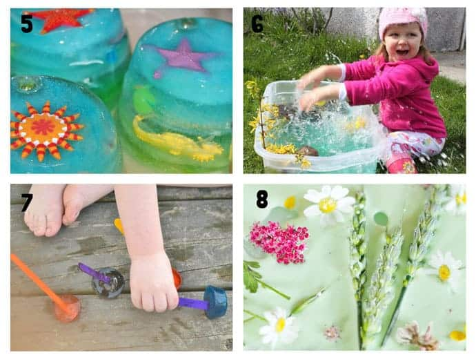 THE BEST SUMMER SENSORY PLAY IDEAS 5-8 - Want Summer sensory activities to keep the kids engaged, playing and learning? These 25+ Fun Summer Sensory Play Activities will be a hit with kids big and small.