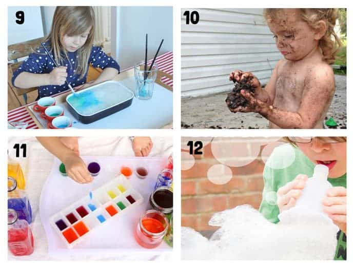 THE BEST SUMMER SENSORY PLAY IDEAS 9-12 - Want Summer sensory activities to keep the kids engaged, playing and learning? These 25+ Fun Summer Sensory Play Activities will be a hit with kids big and small.