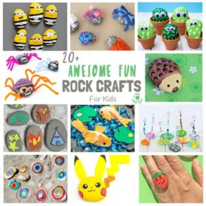 COOL KIDS ROCK CRAFTS - Do your kids love collecting pebbles? If you've got a little Nature collector then you'll love 20+ Awesome Fun Rock Crafts For Kids. These rock painting ideas make fantastic rock activities for fun all year round!