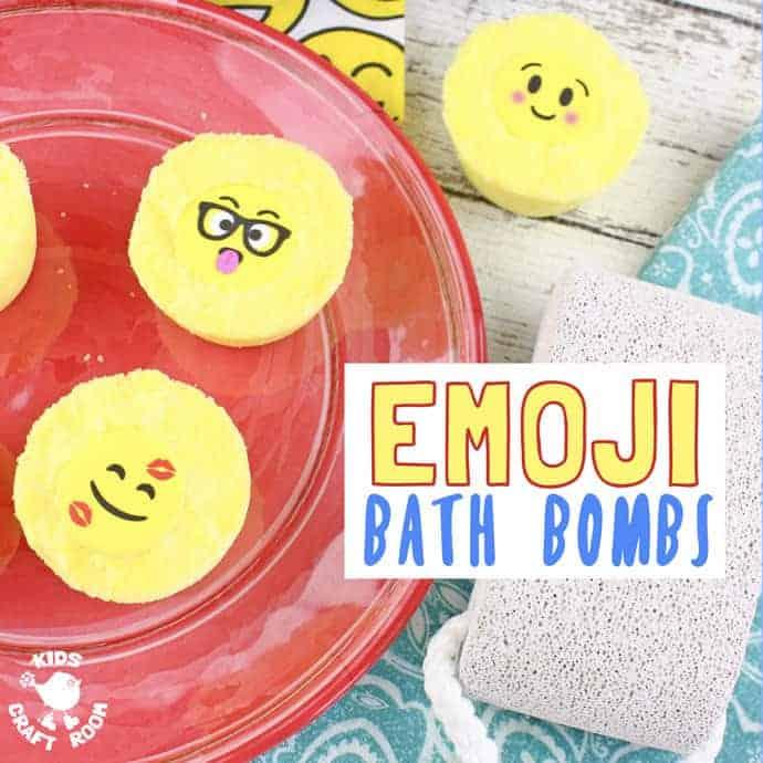 3682622153d1 Homemade Emoji Bath Bombs Kids Craft Room