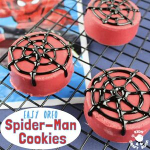 OREO SPIDER-MAN COOKIES - Great for cooking with kids. They look awesome, taste delicious and are super easy to make. A Spider-Man recipe great for Spider-Man parties and movie nights. A fun spider activity for Spider-Man fans big and small.