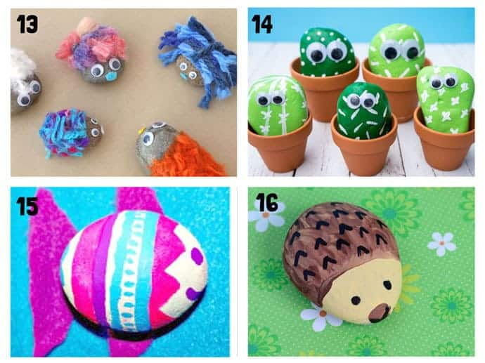 COOL KIDS ROCK CRAFTS 13-16 Do your kids love collecting pebbles? If you've got a little Nature collector then you'll love 20+ Awesome Fun Rock Crafts For Kids. These rock painting ideas make fantastic rock activities for fun all year round!