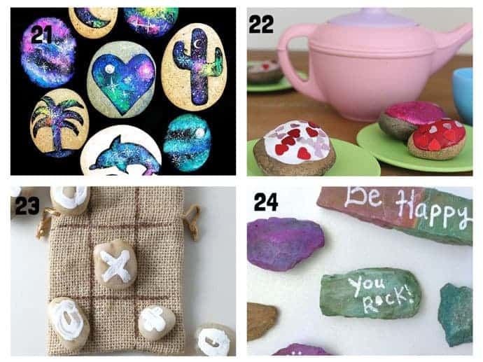 COOL KIDS ROCK CRAFTS 21-24  Do your kids love collecting pebbles? If you've got a little Nature collector then you'll love 20+ Awesome Fun Rock Crafts For Kids. These rock painting ideas make fantastic rock activities for fun all year round!