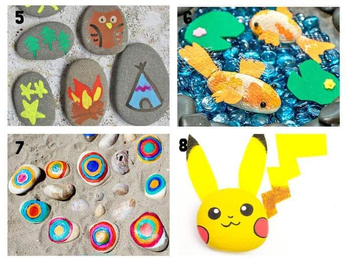 COOL KIDS ROCK CRAFTS 5-8 Do your kids love collecting pebbles? If you've got a little Nature collector then you'll love 20+ Awesome Fun Rock Crafts For Kids. These rock painting ideas make fantastic rock activities for fun all year round!