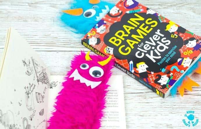 Cute Monster Bookmark Craft Kids Craft Room