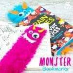 Adorable Monster Bookmark Craft for your little monsters! A perfect monster craft to bring fun and excitement to your children's reading whatever their age. Reading is monstrously good fun and these furry monsters are great for snuggling up to on your reading adventures and they look after your page when you've finished too! #backtoschool #bookmarks #kidscrafts #monster #reading #craftsforkids #bookmarkcrafts #bookmark #readingactivities #kidsactivities #kidscraftroom