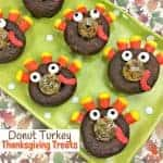 Donut Thanksgiving Turkey Treats are so fun for kids to make and eat. An easy no-cook Thanksgiving recipe that looks super cute and tastes delicious!