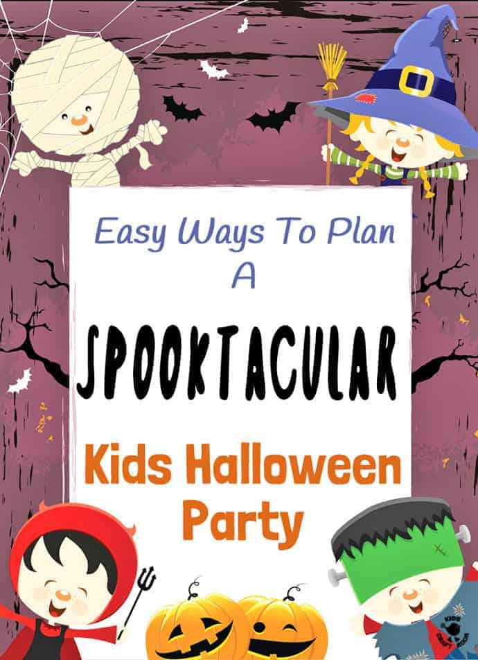 EASY KIDS HALLOWEEN PARTY - How To Throw a Spooktacular Kids Halloween Party. Here's all you need in one place to plan your awesome party including Halloween food, decorations and party games. Think minimum stress, preparation, budget and maximum fun!