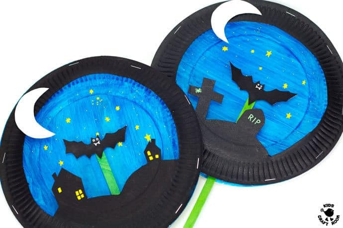 paper plate puppets templates - paper plate bat puppet craft kids craft room
